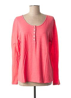 T-shirt manches longues rose GIULIA B. pour femme