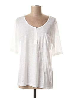 T-shirt manches longues blanc FLEUR DE SEL pour femme