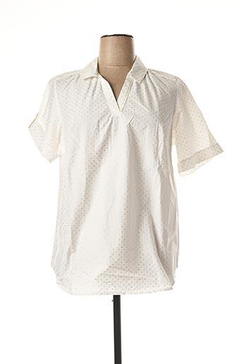 Blouse manches courtes blanc IMITZ pour femme