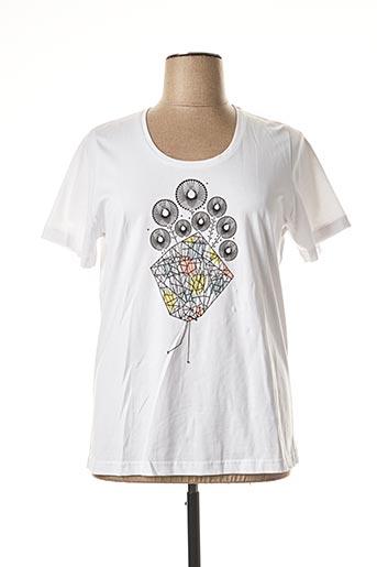 T-shirt manches courtes blanc IMITZ pour femme