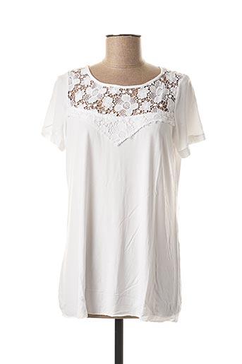 T-shirt manches courtes blanc VALENTINA'S pour femme