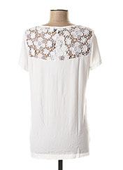 T-shirt manches courtes blanc VALENTINA'S pour femme seconde vue