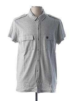 Chemise manches courtes gris BESTE BAT pour homme