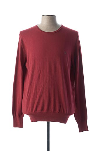 Pull col rond rouge OXBOW pour homme