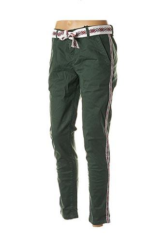 Pantalon casual vert HEARTLESS JEANS pour femme