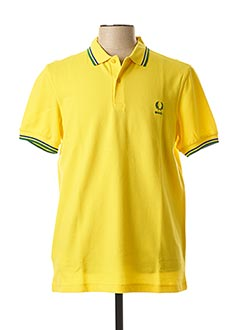 Polo manches courtes jaune FRED PERRY pour homme