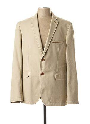 Veste chic / Blazer beige BRUNO SAINT HILAIRE pour homme