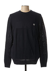 Pull col rond bleu FRED PERRY pour homme seconde vue