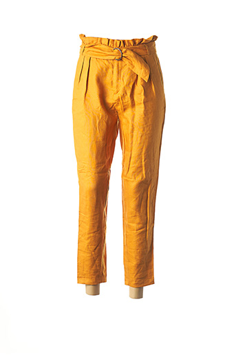 Pantalon casual jaune I.CODE (By IKKS) pour femme