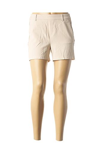 Short beige ONLY pour femme
