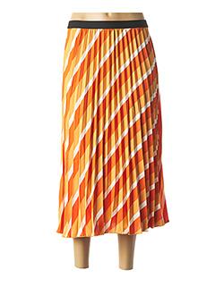 Jupe longue orange ONLY pour femme