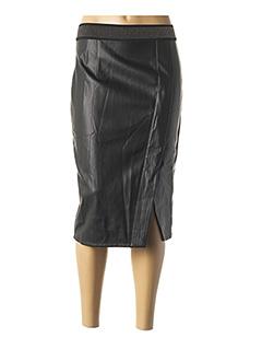 Jupe mi-longue noir SCHOOL RAG pour femme