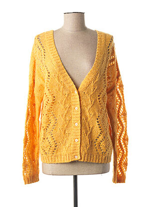 Gilet manches longues jaune I.CODE (By IKKS) pour femme