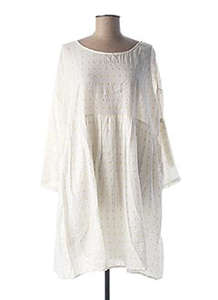 Robe mi-longue blanc SCHOOL RAG pour femme