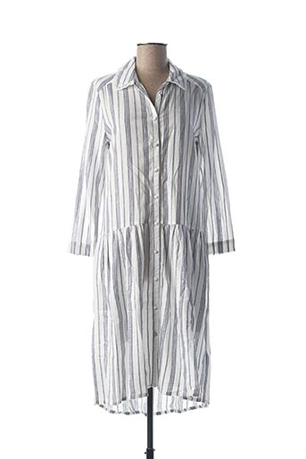 Robe mi-longue bleu SCHOOL RAG pour femme