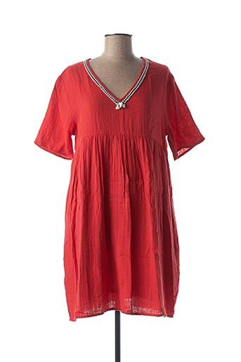 Robe mi-longue rouge SCHOOL RAG pour femme