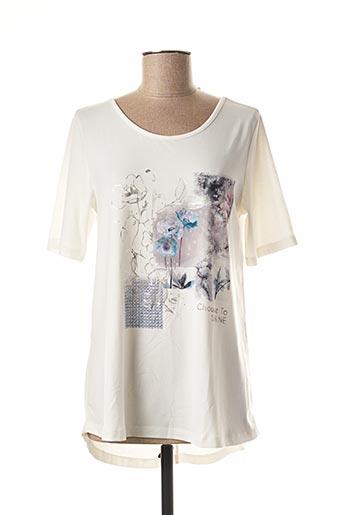 T-shirt manches longues blanc DOLCEZZA pour femme