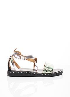 Sandales/Nu pieds gris JANET & JANET pour femme