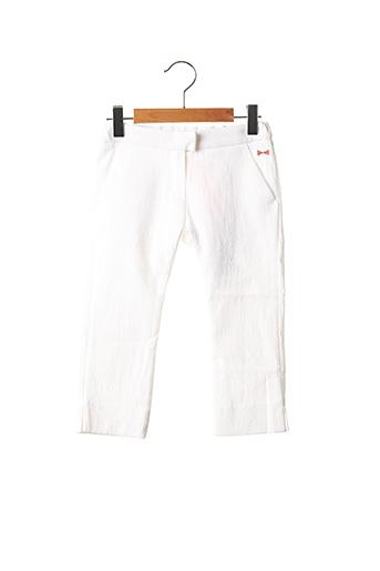 Pantalon casual blanc MARESE pour fille