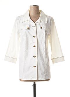 Veste casual blanc TELMAIL pour femme