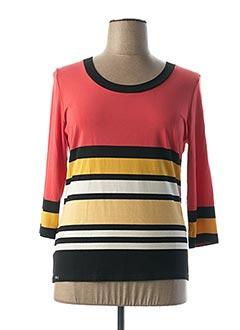 T-shirt manches longues orange ANNE KELLY pour femme