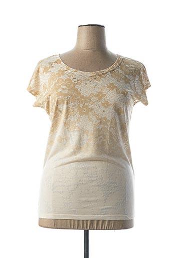 T-shirt manches courtes beige DEHA pour femme