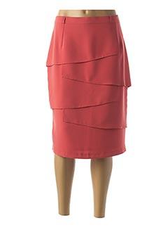 Jupe mi-longue orange ANNE KELLY pour femme