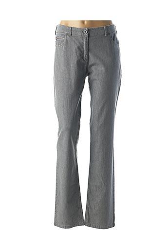 Jeans coupe droite gris VOODOO pour femme
