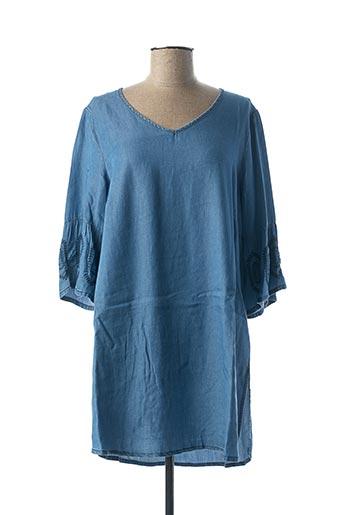 Tunique manches longues bleu CISO pour femme