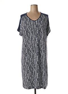 Robe mi-longue bleu CHALOU pour femme