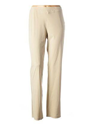 Pantalon casual beige PAUSE CAFE pour femme