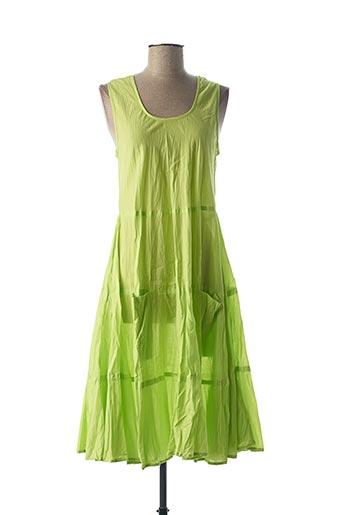 Robe mi-longue vert DRESS ADDICT pour femme
