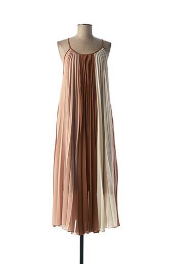 Robe mi-longue marron B.YU pour femme