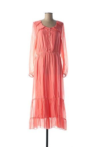 Robe mi-longue rose B.YU pour femme