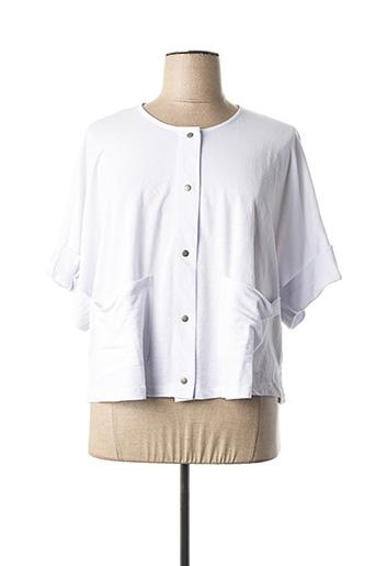 Veste casual blanc ALEMBIKA pour femme