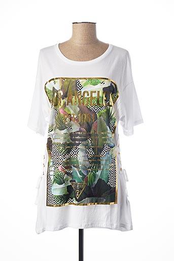 T-shirt manches courtes blanc GUESS pour femme