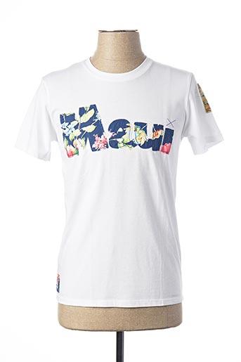 T-shirt manches courtes blanc BOB pour homme