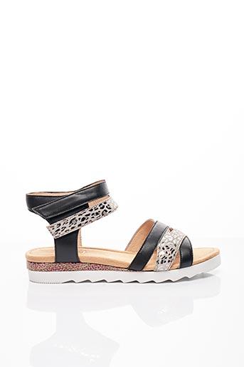 Sandales/Nu pieds noir SWEET pour femme