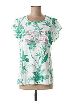 T-shirt manches courtes blanc DESOTO pour femme