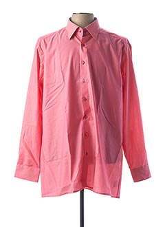 Chemise manches longues rose OLYMP pour homme