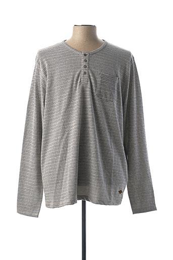 T-shirt manches longues gris LEE COOPER pour femme
