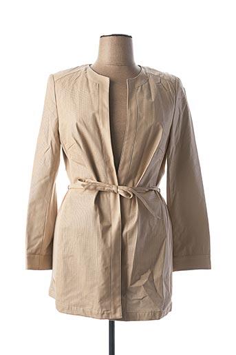 Veste simili cuir beige CHANGE pour femme