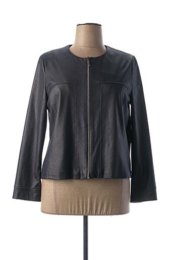 Veste simili cuir bleu JEAN DELFIN pour femme