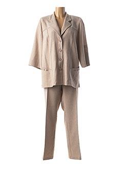 Veste/pantalon beige GUY DUBOUIS pour femme