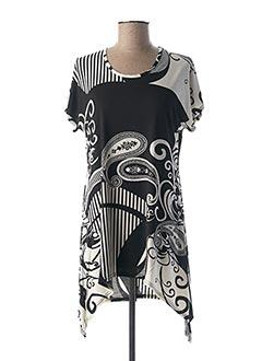 Tunique manches courtes noir MARBLE pour femme