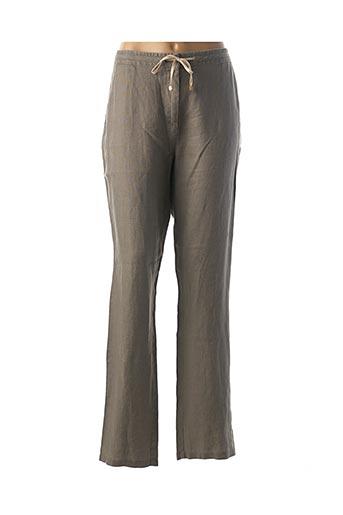 Pantalon chic marron JULIE GUERLANDE pour femme