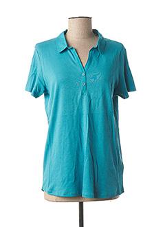 Polo manches courtes bleu CECIL pour femme