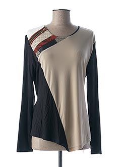 T-shirt manches longues beige BLEU BLANC ROUGE pour femme