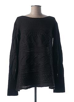 Pull tunique noir CREA CONCEPT pour femme