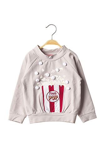 Sweat-shirt gris MILK ON THE ROCKS pour enfant